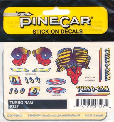 Stick-On Decal Set Turbo Ram