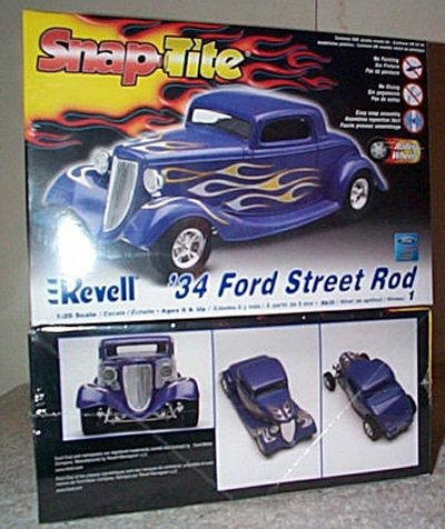 '34 Ford Coupe St.Rod Snap Tite Model Kit