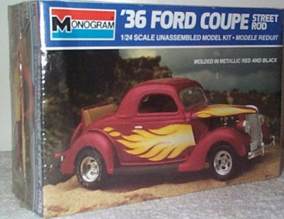 '36 Ford 3-Window Coupe Street Rod Model