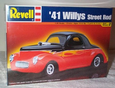 '41 Willys Coupe Street Rod Model Kit