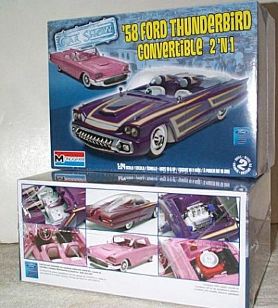 '58 Ford Thunderbird Convertible Model Kit