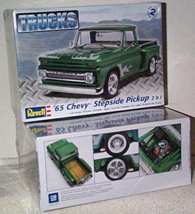'65 Chevy Stepside Pickup 2'n 1 Model Kit