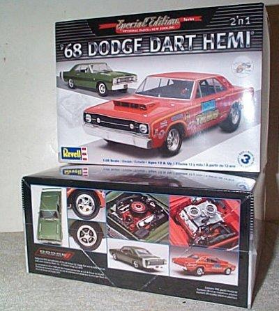 '68 Dodge Dart Hemi 2'n 1 Model Kit