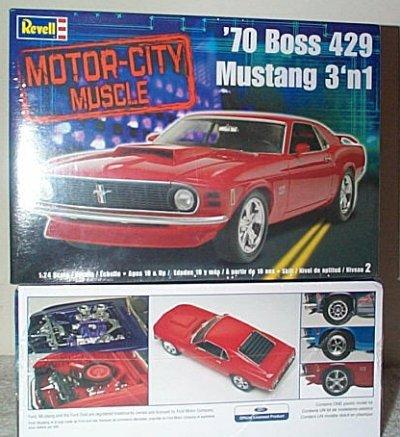 '70 Mustang Boss 429 3'n 1 Model Kit