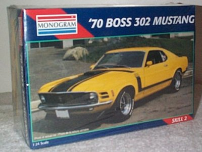 '70 Ford Mustang Boss 302 Model Kit