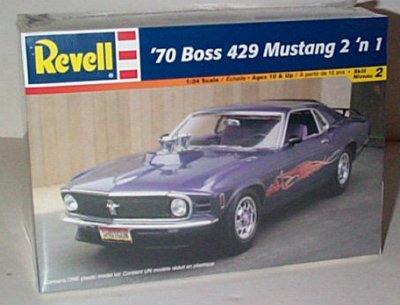 '70 Ford Mustang Boss 429 2'n 1 Model Kit