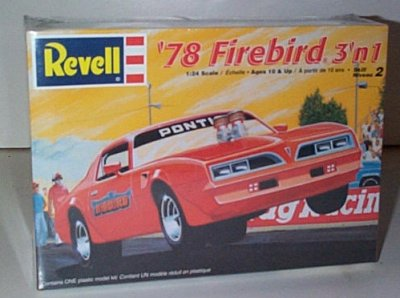 '78 Pontiac Firebird 3'n 1 Model Kit