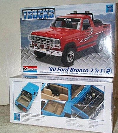'80 Ford Bronco 2'n 1 Model Kit