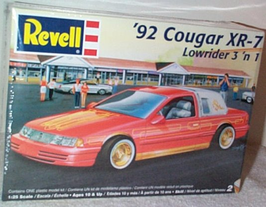 '92 Cougar XR-7 Lowrider 3'n 1 Model Kit