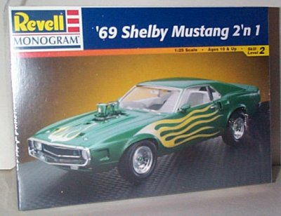 '69 Ford Shelby Mustang 2'n 1 Model Kit