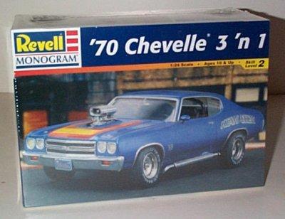 '70 Chevelle SS 454 3'n 1 Model Kit