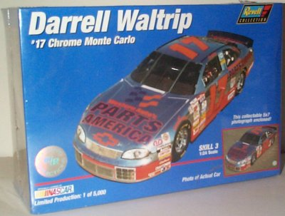 Darrell Waltrip Chrome Monte Carlo Model Kit