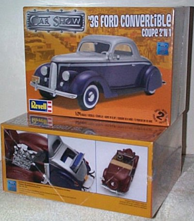 '36 Ford Condertible 2'n 1 Model Kit