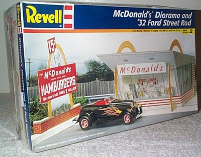 McDonald's Diorama w/1932 Ford Roadster
