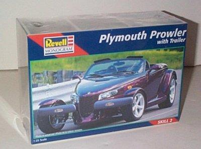Plymouth Prowler w/Trailer Model Kit