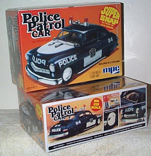 '49 Mercury Police Patrol Car Model Kit
