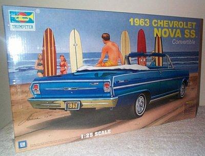 '63 Chevy Nova SS Convertible Model Kit