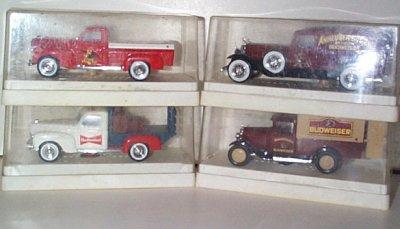 Anheuser-Busch/Budweiser 4 Piece Truck Set
