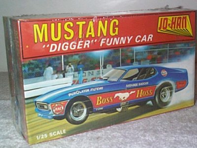 Boss Hoss Mustang Funny Car Model