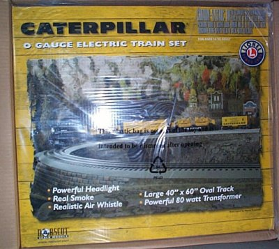 Caterpillar Lionel Electric Train Set