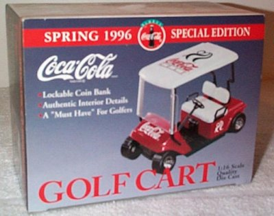 Coca-Cola Spring '96 Golf Cart Bank GMP