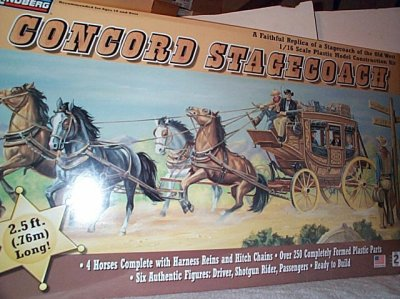 Concord Stagecoach Model Kit