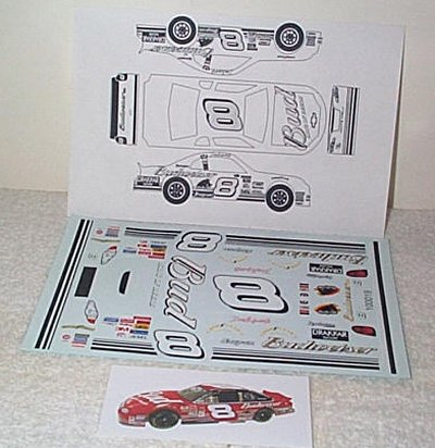 Dale Earnhardt Jr. Bud '01 Decal Sheet