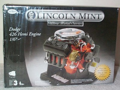 Dodge 426 Hemi Engine Metal Model Kit