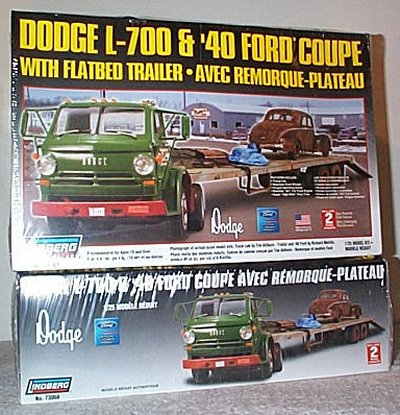 Dodge L-700 w/Flatbed Trailer & Ford Coupe