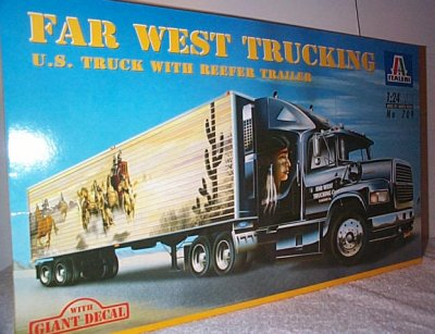 Far West Trucking Tractor Trailer Model
