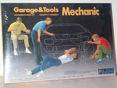 Garage & Tools Mechanic Plastic Model Set