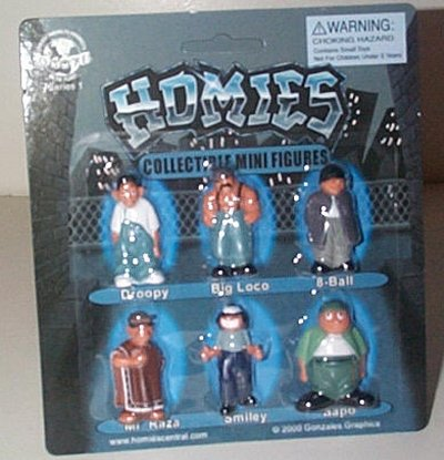 Homies Six Piece Collectible Mini Figures