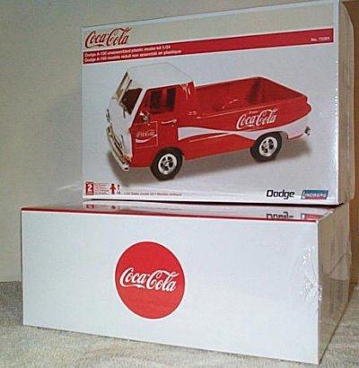 Little Red Coke Dodge Pickup Model Kit