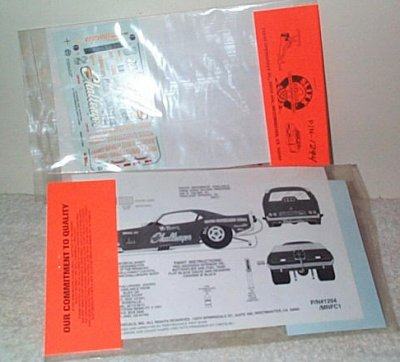 Slixx Decals # 1294 Mr. Norm's Funny Car