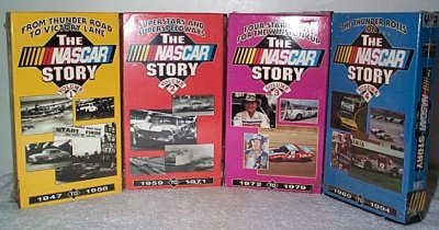 NASCAR Story Four VHS Tape Set