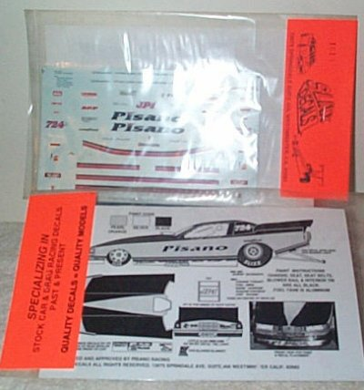 Slixx Decal Sheet # 1010 Pisano Funny Car