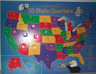 United States 50 States Collector's Map