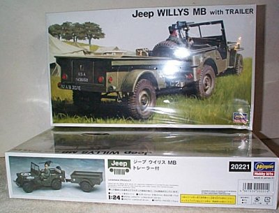 Willys Jeep MB w/Trailer Model Kit