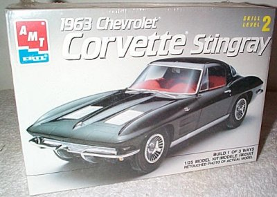 Corvette Stingray Model  on Motorsports   1963 Chevrolet Corvette Stingray 3 N 1 Model Kit   6520